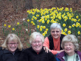 Lynn Ladd joins the ladies at the Delibes planting at Wildwood.