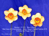 Bantam 2Y-YYO Best Vase of 3 Stems, Intermediates E