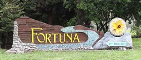 Fortuna Entrance Sign