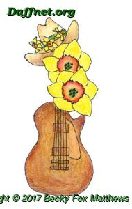 ADS 2018 Nashville logo--guitar with daffodils and cowboy hat with daffodil hatband