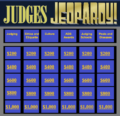 Start screen of Judges Jeopardy