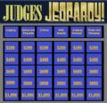 Start screen of Judges Jeopardy